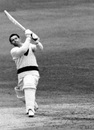 Harry Pilling goes over the leg side, Middlesex v Lancashire, Lord's, May 22, 1968
