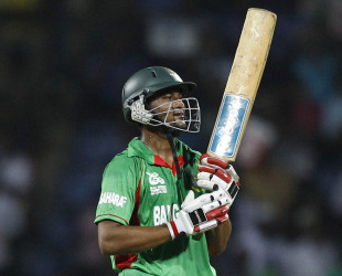 Shakib Al Hasan's 84 allowed Bangladesh to set a stiff target, Bangladesh v Pakistan, World Twenty20 2012, Group D, Pallekele, September 25, 2012