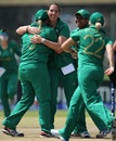 Susan Benade celebrates a wicket, Women's World T20 2012, Group B, Sri Lanka Women v South Africa Women