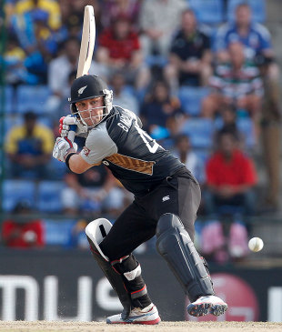 Brendon McCullum prepares to send the ball into orbit, Sri Lanka v New Zealand, World T20 2012, Super Eights, Pallekele, September 27, 2012