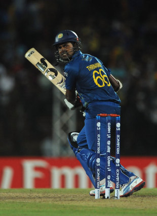 Lahiru Thirimanne nearly won the game for Sri Lanka, Sri Lanka v New Zealand, World T20 2012, Super Eights, Pallekele, September 27, 2012