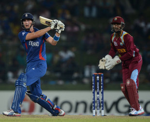 Alex Hales tried to get England's chase moving, England v West Indies, World Twenty20 2012, Super Eights, Pallekele, September 27, 2012