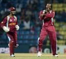Chris Gayle's celebratory dance having caught Luke Wright at slip, England v West Indies, World Twenty20 2012, Super Eights, Pallekele, September 27, 2012