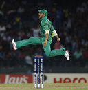JP Duminy jumps for joy after taking a catch, Pakistan v South Africa, World Twenty 20 2012, Super Eights, Colombo, September 28, 2012