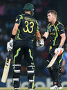 Shane Watson and David Warner almost completed a 10-wicket win, Australia v India, World T20 2012, Super Eights, Colombo, September, 28, 2012