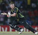 David Warner steers the ball behind point, Australia v India, World T20 2012, Colombo, September, 28, 2012