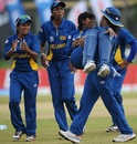 Dilani Manodara is carried by Chamari Atapattu, Sri Lanka v West Indies, Women's World T20, Group B, Galle, September 28, 2012