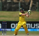 Jess Cameron drives a ball through the off-side, Australia v Pakistan, Women's World T20, Group a, Galle, September 29, 2012