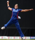 Katherine Brunt holds on to a catch of her own bowling, Australia v England, Group A, Women's World T20, Galle, October 1, 2012