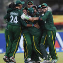 Pakistan celebrate their narrow win over India, India v Pakistan, Group A, Women's World Twenty20, October, 1, 2012