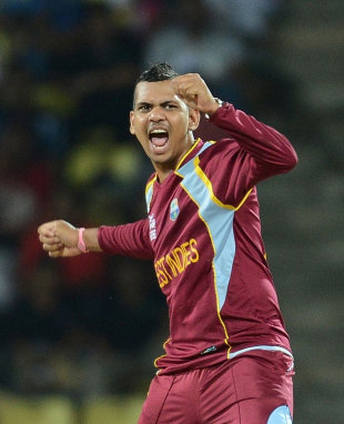 Sunil Narine bowled superbly taking 3 for 20, New Zealand v West Indies, Super Eights, World Twenty20 2012, Pallekele, October 1, 2012
