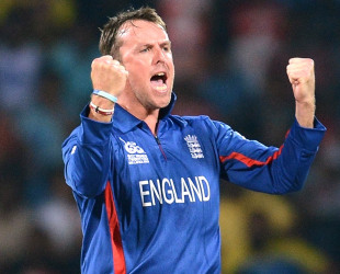 Graeme Swann celebrates after taking a wicket, Sri Lanka v England, Super Eights, World Twenty20, Pallekele, October 1, 2012