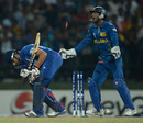 Ravi Bopara was bowled for 1, Sri Lanka v England, Super Eights, World Twenty20, Pallekele, October 1, 2012