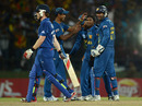 Going out: Eoin Morgan couldn't guide England's chase, Sri Lanka v England, Super Eights, World Twenty20, Pallekele, October 1, 2012