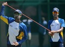 Lahiru Thirimanne trains with Dinesh Chandimal