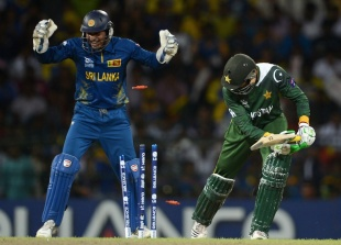 Shoaib Malik was bowled by Rangana Herath, Sri Lanka v Pakistan, 1st semi-final, World Twenty20, Colombo, October 4, 2012