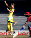 Julie Hunter finished with 5 for 22, Australia v West Indies, 2nd semi-final, Women's World Twenty20, Colombo, October 5, 2012