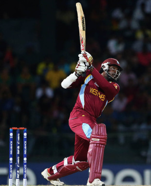 Chris Gayle anchored the West Indies innings
