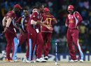 Chris Gayle and his team-mates enjoy the win over Australia, Australia v West Indies, 2nd semi-final, World Twenty20 2012, Colombo, October 5, 2012