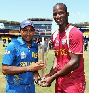 Darren Sammy and Mahela Jayawardene on the eve of the World Twenty20 final, Colombo, October 6, 2012