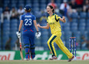 Julie Hunter celebrates dismissing Laura Marsh, Australia v England, final, Women's World Twenty20, Colombo, October 7, 2012