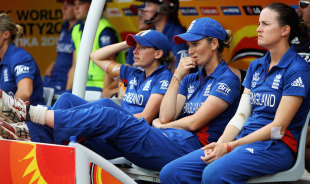 The dejected England dugout, Australia v England, final, Women's World Twenty20, Colombo, October 7, 2012