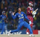 Akila Dananjaya celebrates dismissing Marlon Samuels, Sri Lanka v West Indies, final, World Twenty20, Colombo, October 7, 2012