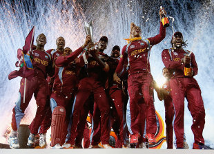 The fireworks start as West Indies get their hands on the prize