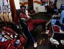 Darren Sammy takes good care of the World Twenty20 trophy, Sri Lanka v West Indies, final, World Twenty20, Colombo, October 7, 2012