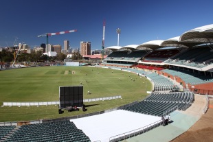 View of the south western side of Adelaide Oval under reconstruction, October 9, 2012
