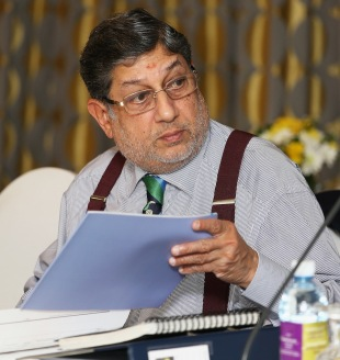 BCCI president N Srinivasan during the ICC meeting, Colombo, October 9, 2012