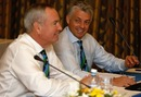 Alan Isaac and Dave Richardson during the ICC meeting, Colombo, October 9, 2012