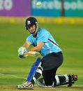 Colin Munro plays a reverse sweep, Auckland Aces v Sialkot Stallions, Champions League T20, Johannesburg, October 9, 2012