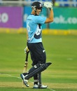 Anaru Kitchen finished the match with a six, Auckland Aces v Sialkot Stallions, Champions League T20, Johannesburg, October 9, 2012