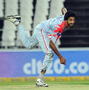Sialkot's Umaid Asif delivers the ball, Hampshire v Sialkot Stallions, Champions League T20, Johannesburg, October 11, 2012