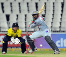 Shoaib Malik shapes to play a big shot, Hampshire v Sialkot Stallions, Champions League T20, Johannesburg, October 11, 2012