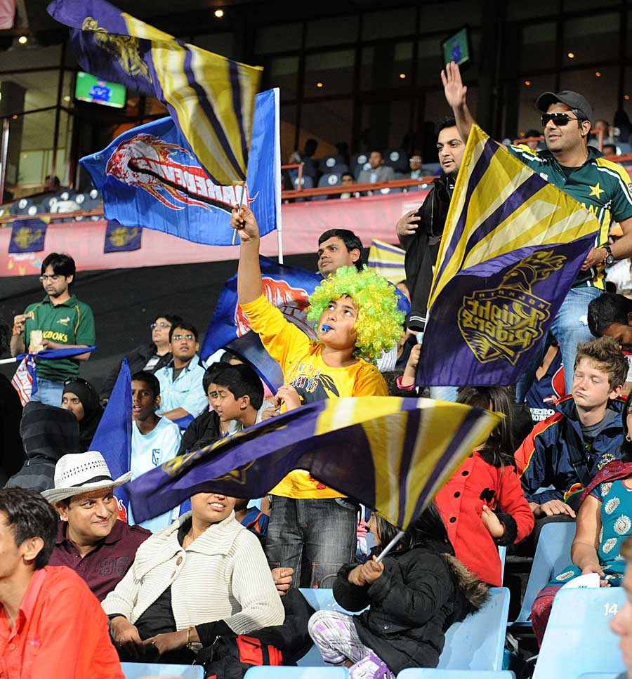 Fans at the Centurion during the Daredevils-Knight Riders game