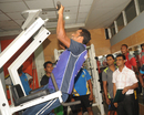 Alok Kapali and a host of first-class cricketers use the Mirpur gym ahead of the National Cricket League, Dhaka, October 14, 2012