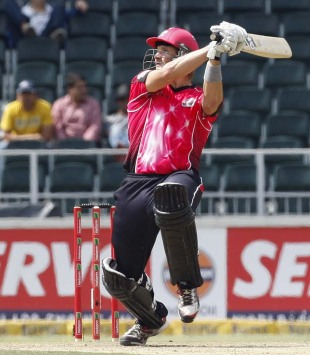 Shane Watson plays the cut shot, Chennai Super Kings v Sydney Sixers, Group B, Champions League Twenty20, Johannesburg, October 14, 2012