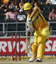 Faf du Plessis plays an off drive, Chennai Super Kings v Sydney Sixers, Group B, Champions League Twenty20, Johannesburg, October 14, 2012