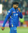 Harbhajan Singh had plenty to ponder about after Mumbai Indians' defeat, Lions v Mumbai Indians, Group B, Champions League Twenty20, Johannesburg, October 14, 2012