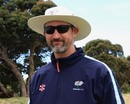 Yorkshire coach Jason Gillespie at a training session, Cape Town, October 15, 2012