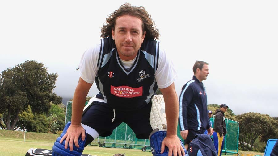 Ryan Sidebottom stares into the camera at practice