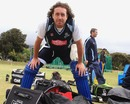Ryan Sidebottom stares into the camera at practice, Capte Town, October 15, 2012