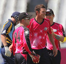 Josh Hazlewood finished with figures of 1 for 9, Sydney Sixers v Yorkshire, Group B, Champions League Twenty20, Cape Town, October 16, 2012