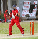 HKCC Cavaliers skipper Alvina Tam plays a pull shot in a Women's T20 Cup  played at Mission Road on 14th October 2012