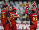 Lions celebrate another wicket