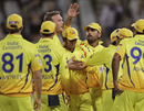 Chennai Super Kings celebrate a wicket, Chennai Super Kings v Lions, Group B, Champions League Twenty20, Cape Town, October 16, 2012