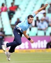 Kyle Mills picked up a wicket, but was expensive, Auckland Aces v Titans, Group A, Champions League T20, Durban, October 17, 2012