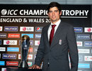 Alastair Cook at the launch of the Champions Trophy